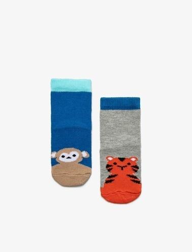 Koton Kids 2'li Erkek Bebek Çorap Gri